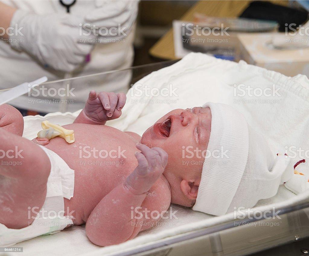 Newborn Cry royalty-free stock photo