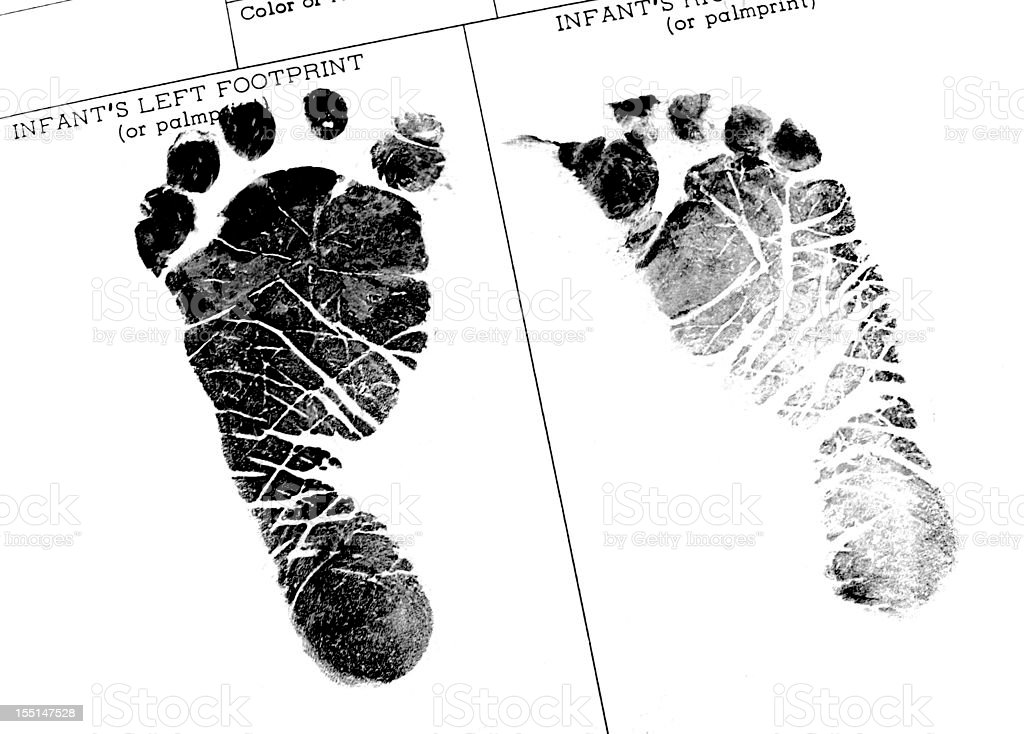 Newborn Footprints stock photo