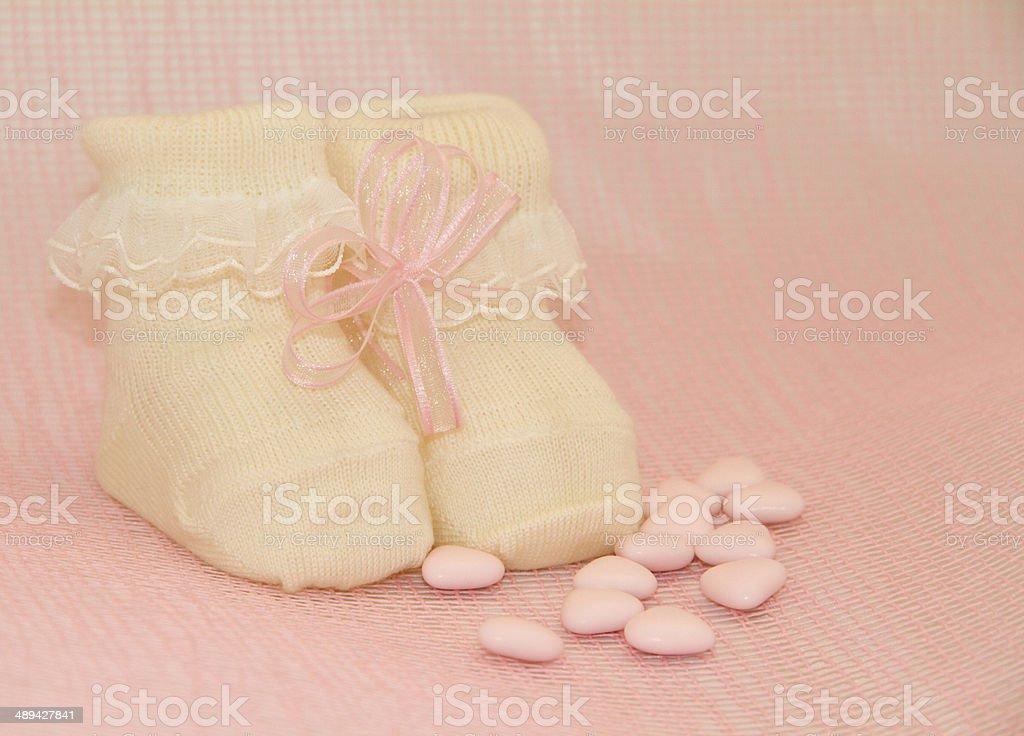 newborn girl stock photo
