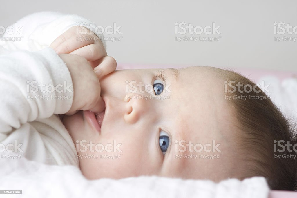 Newborn Girl royalty-free stock photo