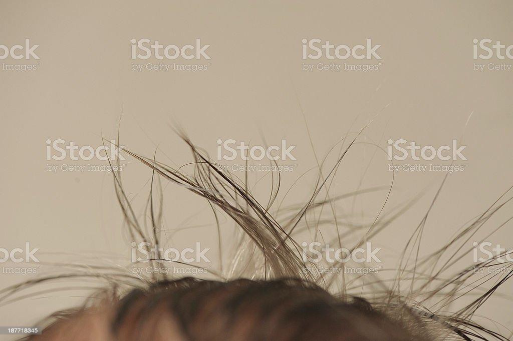 Newborn Hair royalty-free stock photo