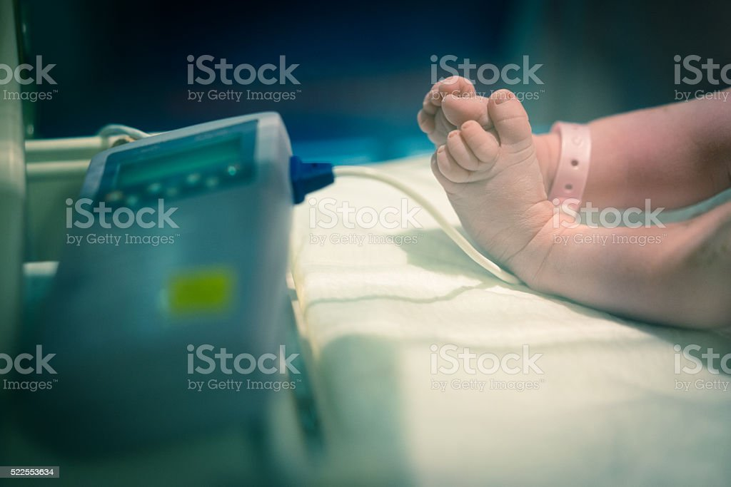 Newborn health check stock photo