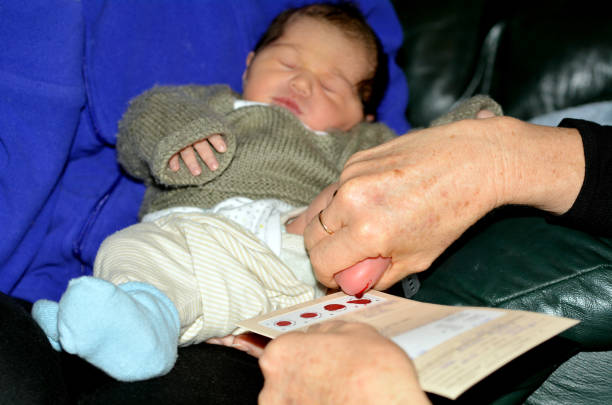 newborn metabolic screening test - screening stock photos and pictures