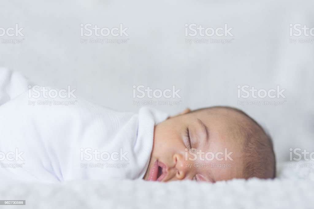 Newborn Sleeping Baby stock photo