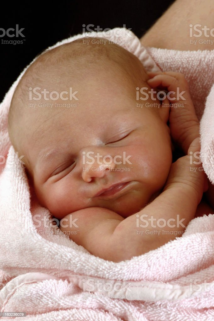 newborn sleeping royalty-free stock photo