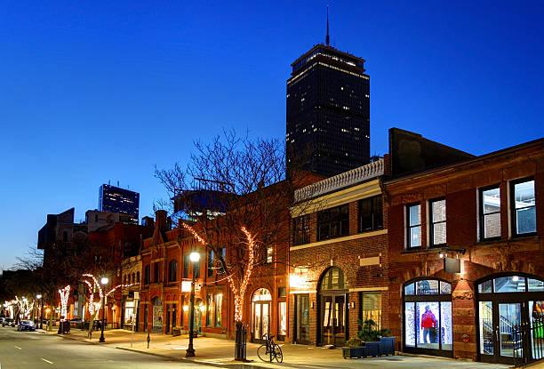 Newbury Street Boston stock photo