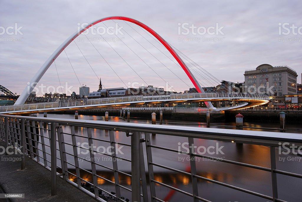 Newcastle at Sundown stock photo