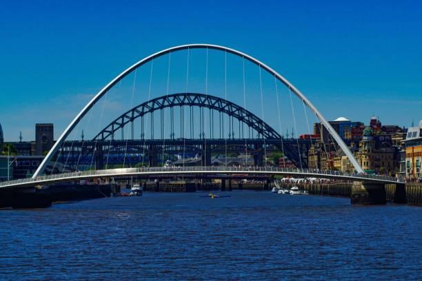 Newcastle bridges on the river Tyne stock photo