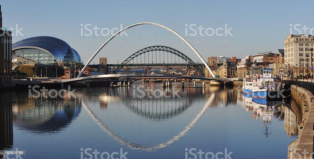 Newcastle Bridges stock photo