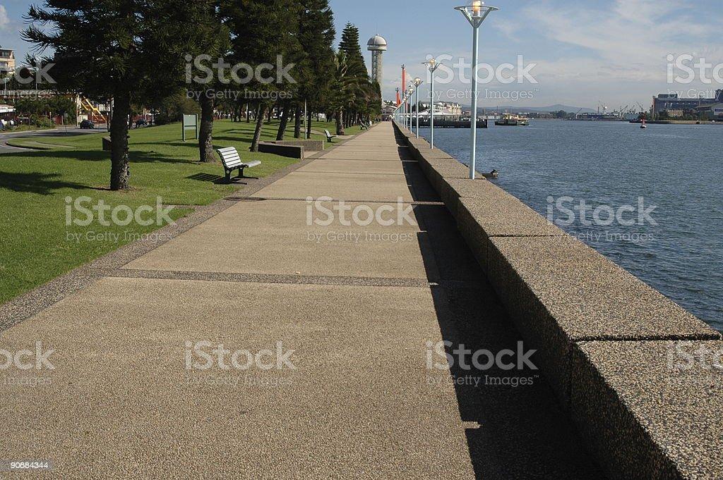 Newcastle Harbour Foreshore Australia royalty-free stock photo