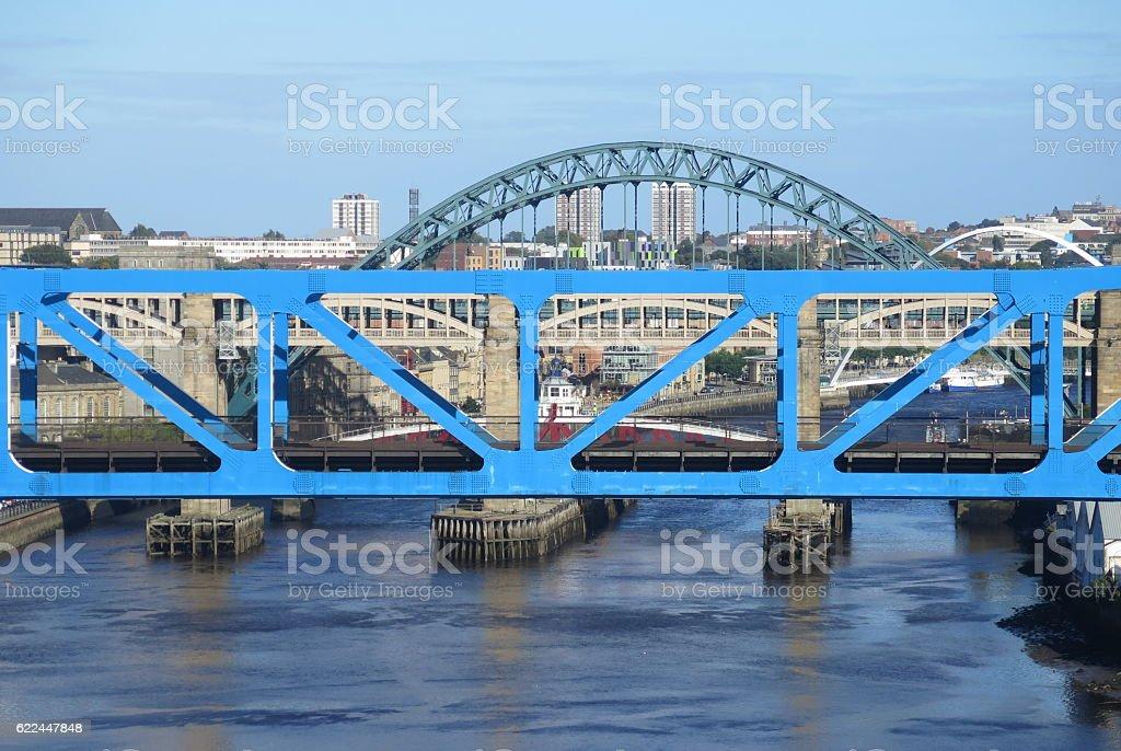 Newcastle Metro Bridge stock photo