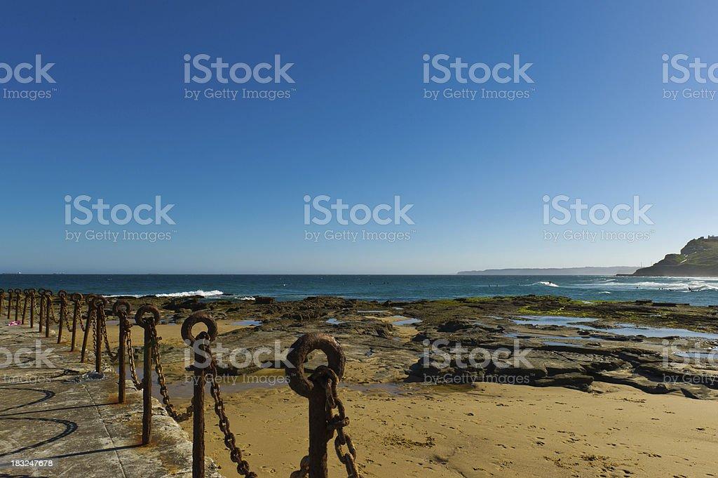 Newcastle Ocean Bath royalty-free stock photo