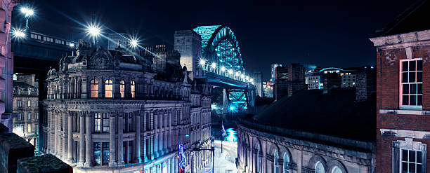newcastle quayside buildings - gateshead stock photos and pictures