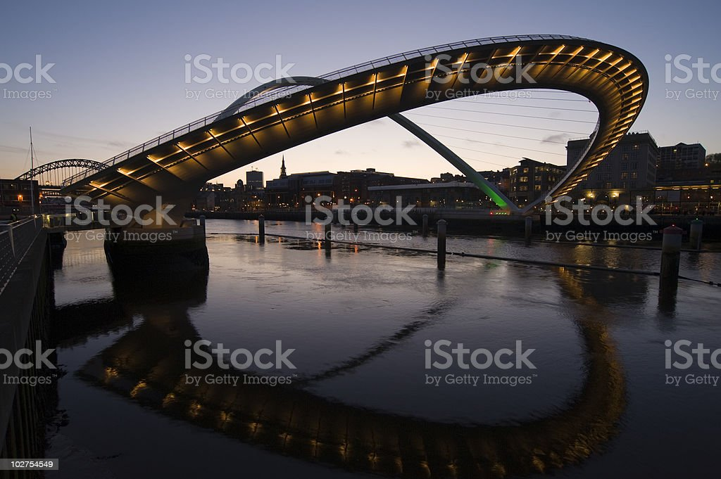 Newcastle Quayside stock photo