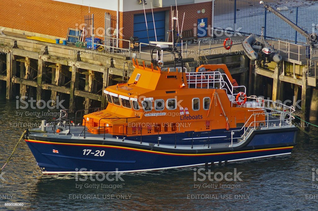 Newcastle, United Kingdom - October 5th, 2014 - RNLI lifeboat 17-20 Spirit of Northumberland at her moorings stock photo