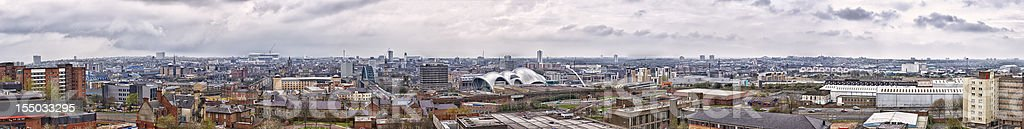 Newcastle upon Tyne cityscape panorama from Gateshead stock photo