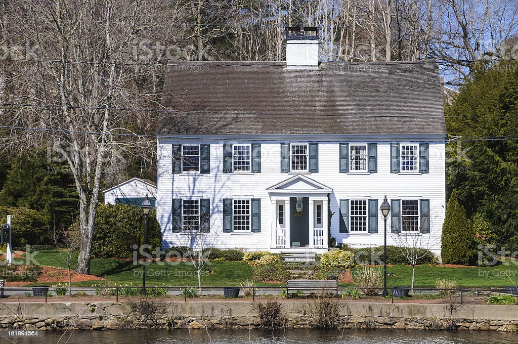 royalty free cape cod style home photos pictures images and stock rh istockphoto com Cottage Style Homes Cape Cod Style Homes Exteriors