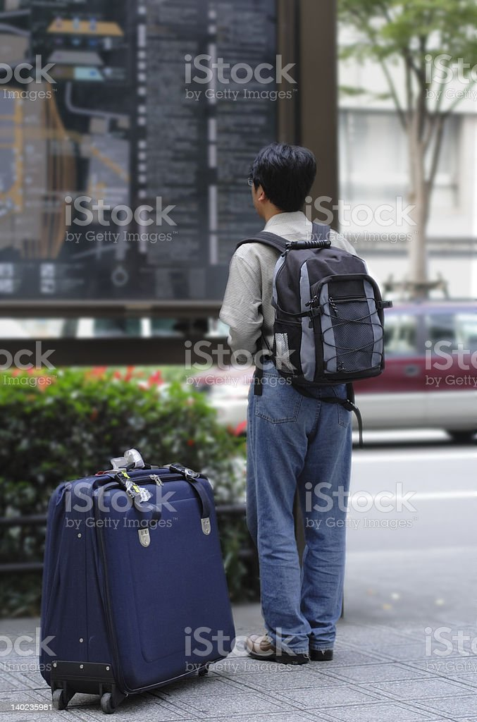 Newcomer in the city royalty-free stock photo