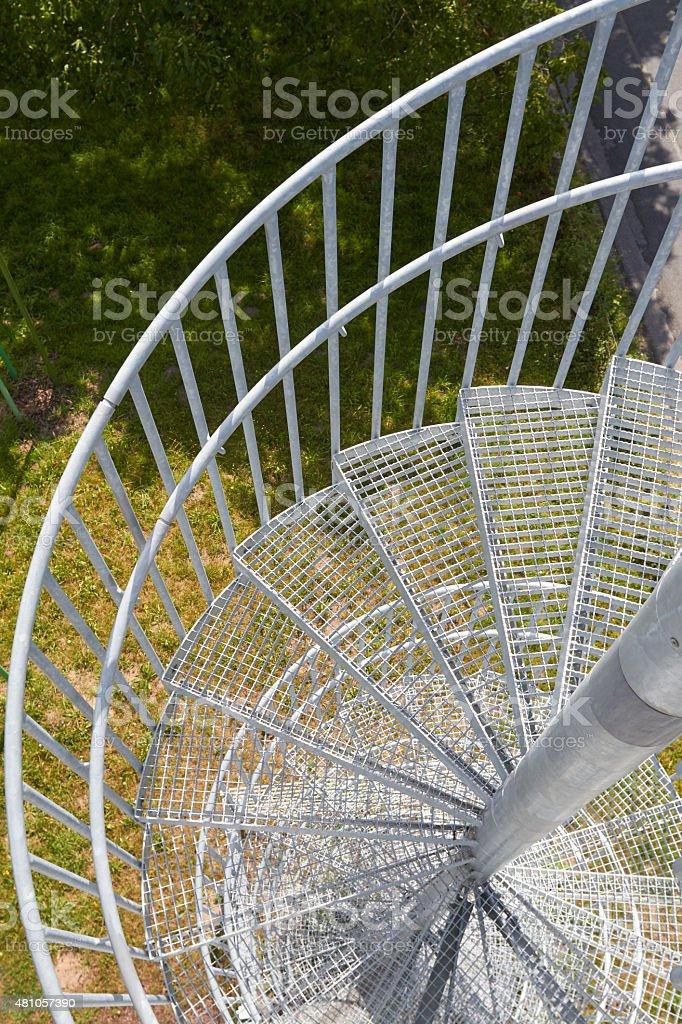 newel stair stock photo
