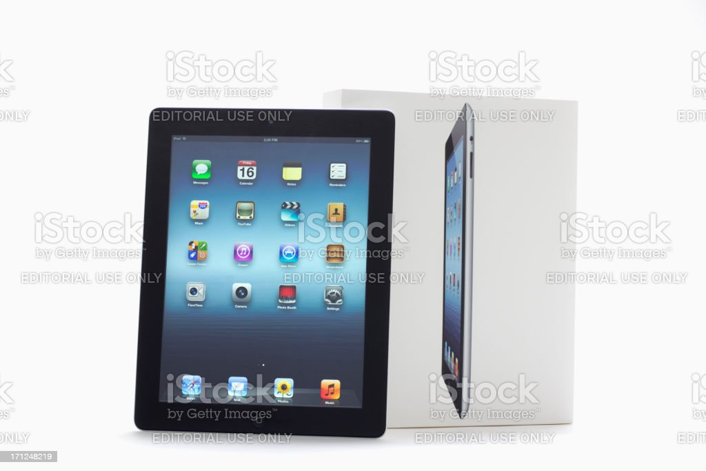 Newest iPad III royalty-free stock photo