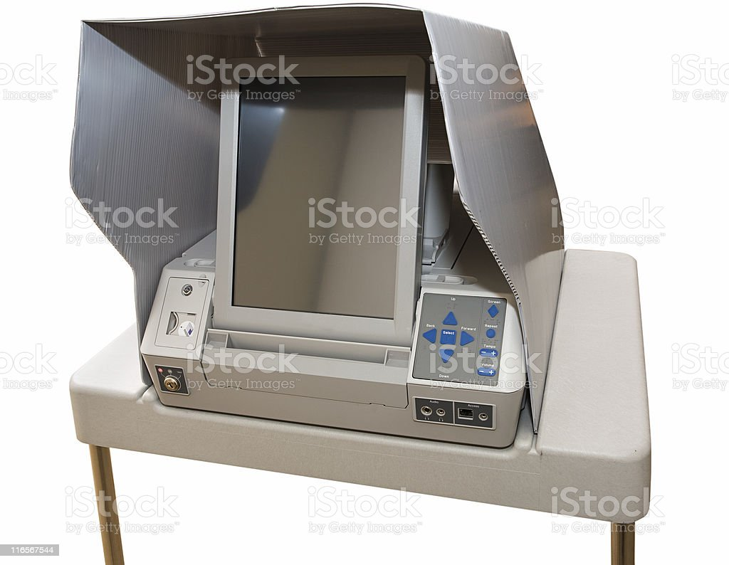 Newest Touch Screen Voting Machine stock photo