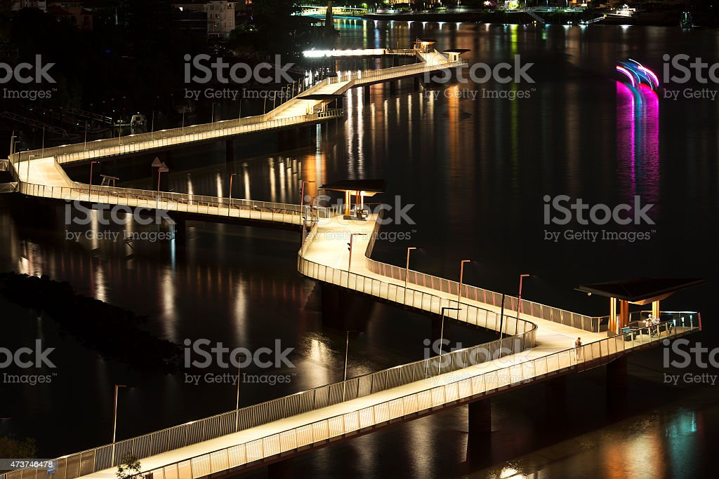 Newfarm Riverwalk in Brisbane stock photo
