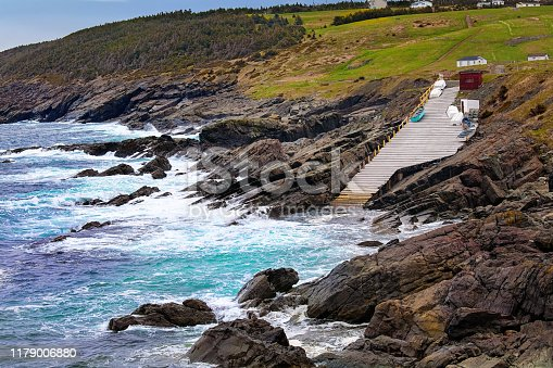 A view of Pouch Cove, Newfoundland, an outport community that is located on the Avalon Peninsula.