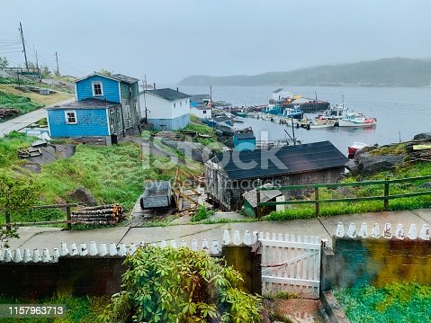 The isolated outport fishing village of LaPoile, Newfoundland.