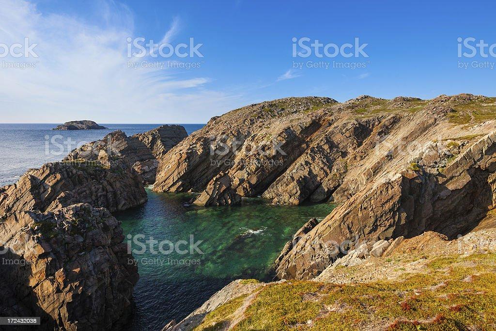 Newfoundland, Rocky Coast, Canada royalty-free stock photo