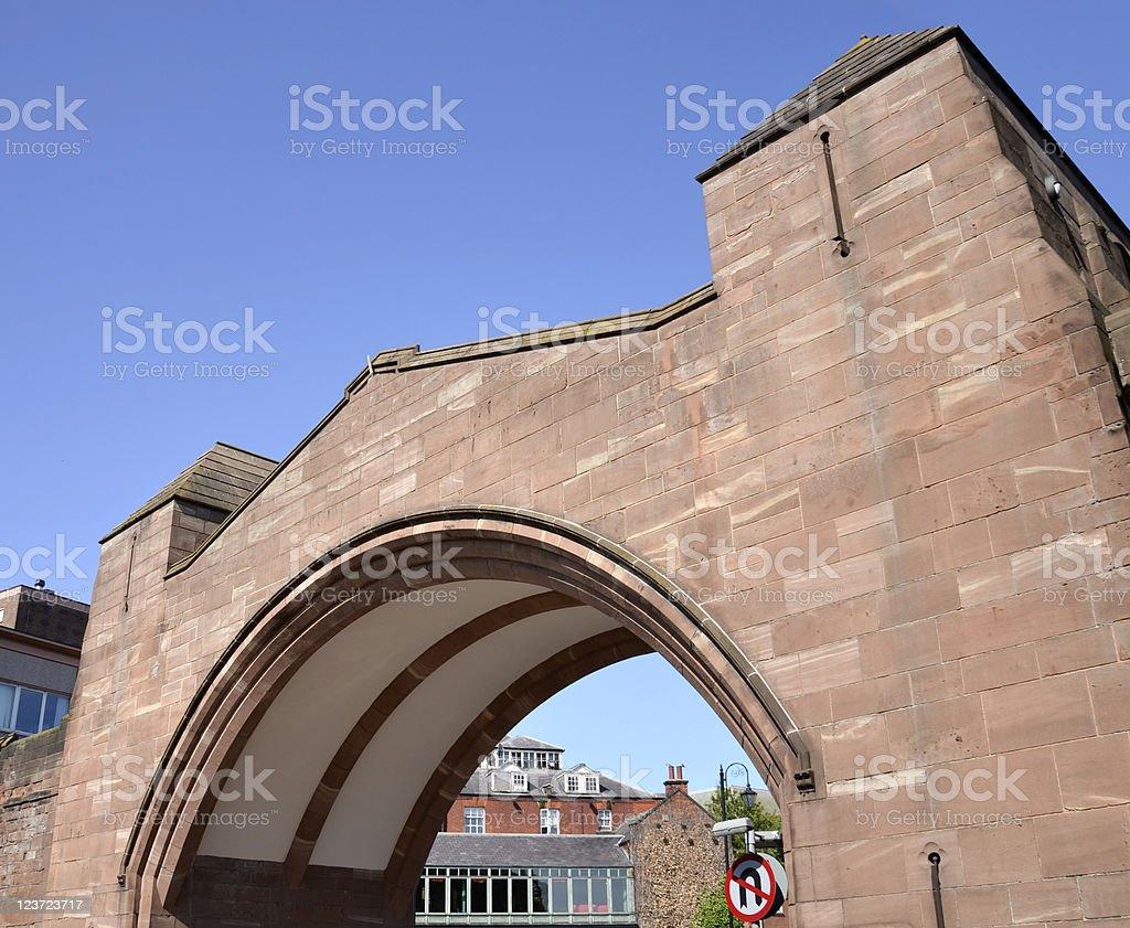 Newgate Bridge in Chester royalty-free stock photo