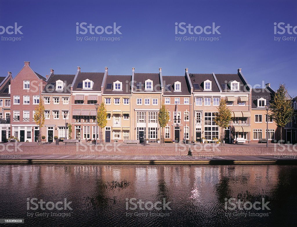 Newly built homes in traditional style. royalty-free stock photo