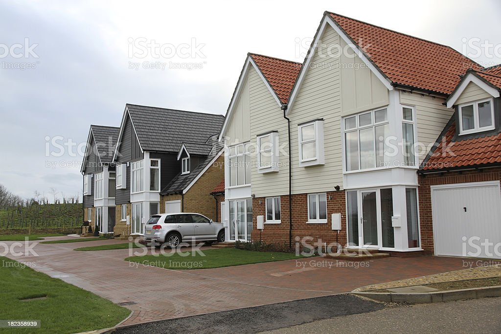 Newly built  houses waiting to be sold - UK stock photo