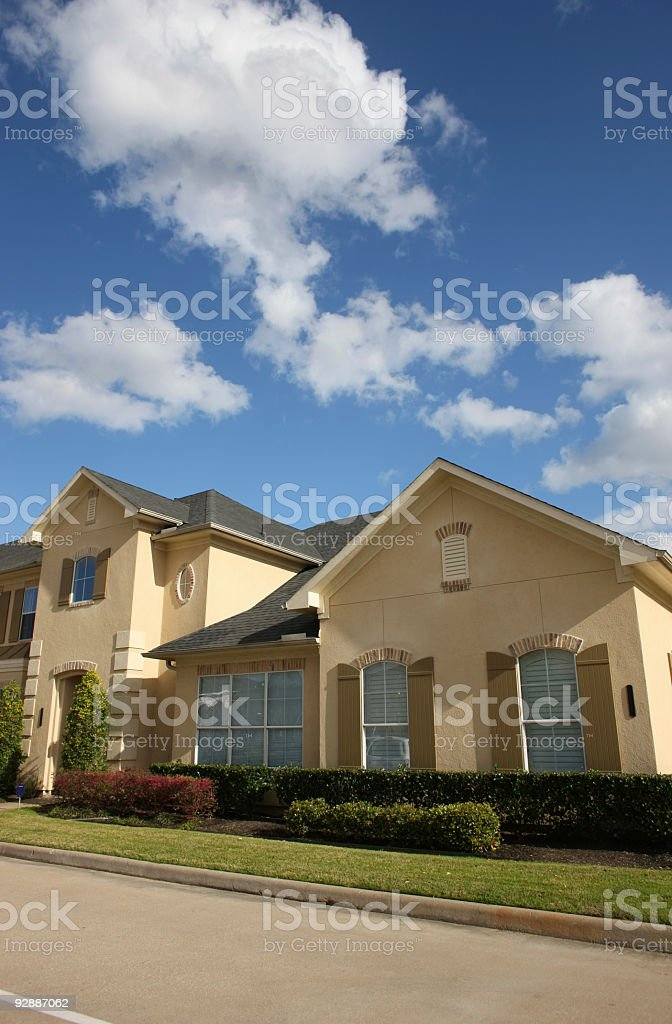 Newly built townhomes stock photo