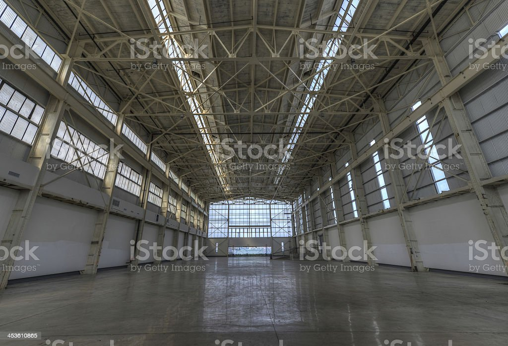 Newly constructed empty warehouse/factory royalty-free stock photo