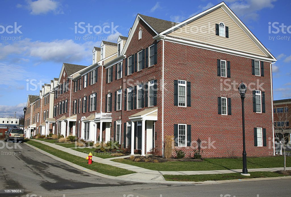 Newly Constructed Townhouse Condos royalty-free stock photo