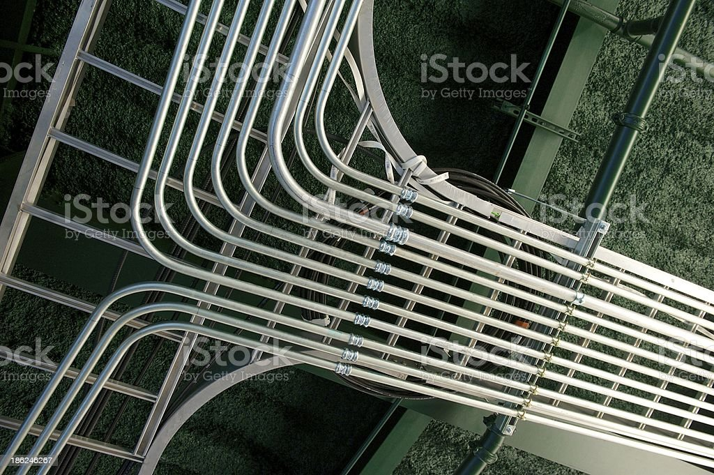 Newly Installed Electrical Conduit Junction stock photo