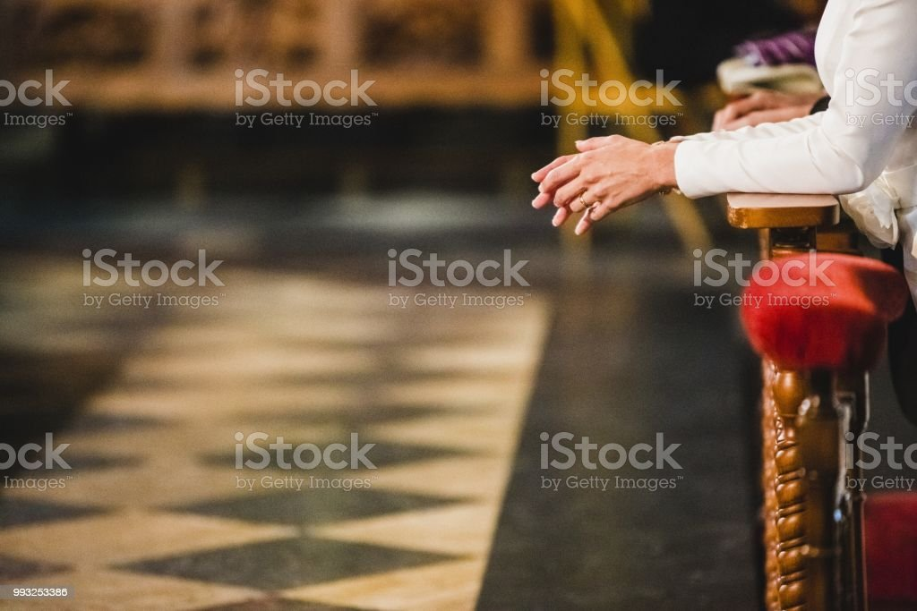 Newly Married Couple After Their Wedding Stock Photo