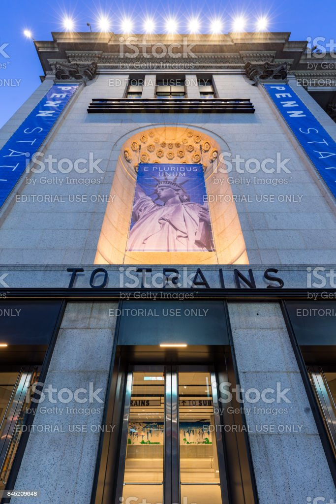 Newly opened renovated West Entrance of Penn Station at the James A. Farley Post Office, Manhattan, New York City stock photo