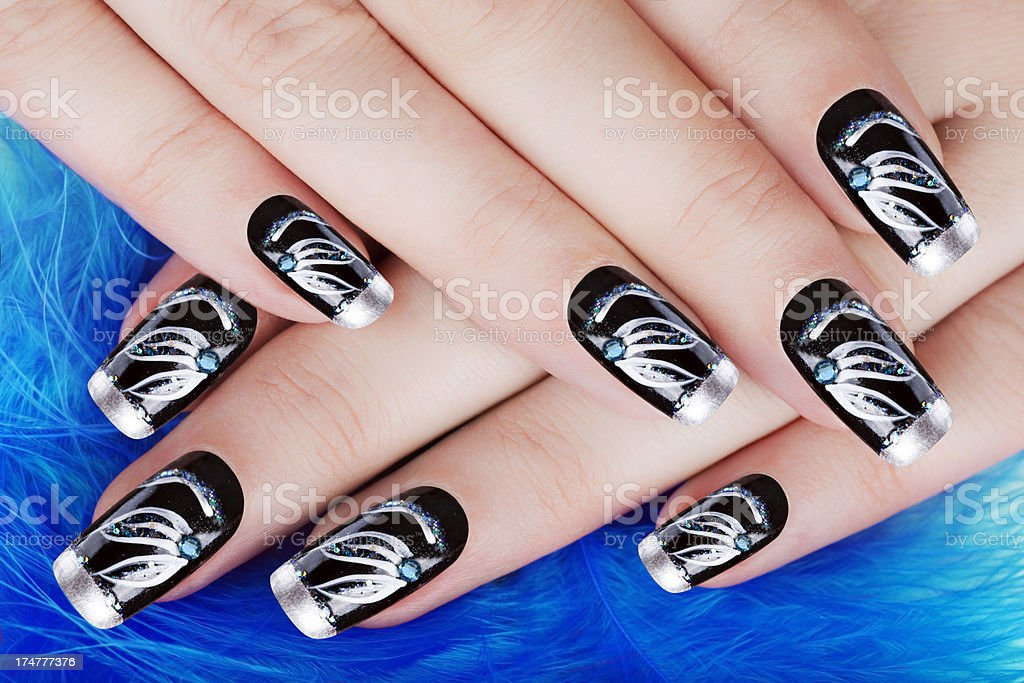 Newly painted nails after having a manicure royalty-free stock photo