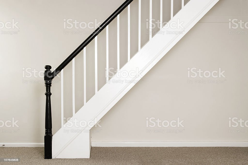 Newly Painted Staircase and Bannisters In A Cottage royalty-free stock photo