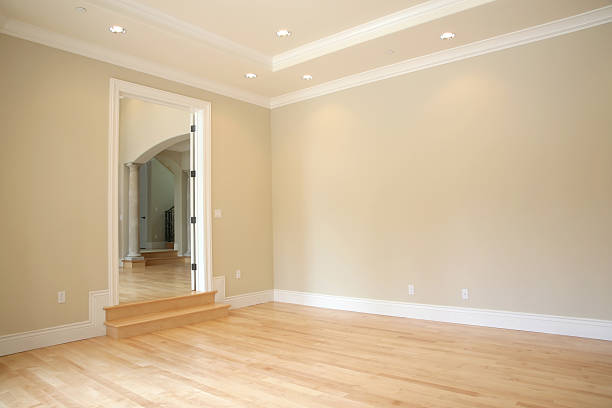 Newly Remodeled Family Room stock photo