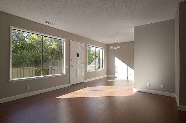 Newly remodeled home stock photo