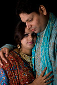 istock Newly Wed Indian Asian Couple vertical dark portrait 172724647