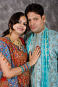 istock Newly Wed Traditional Indian Couple 116420495