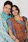istock Newly Wed Young Indian Asian Couple traditional clothing 116419857
