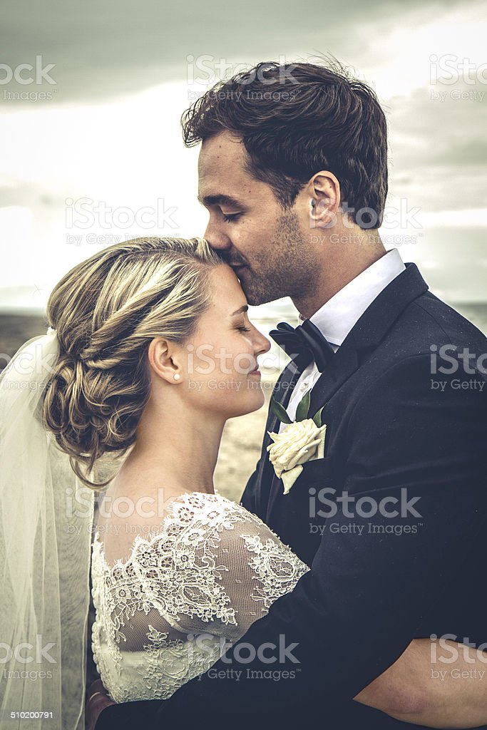 Newly weds stock photo