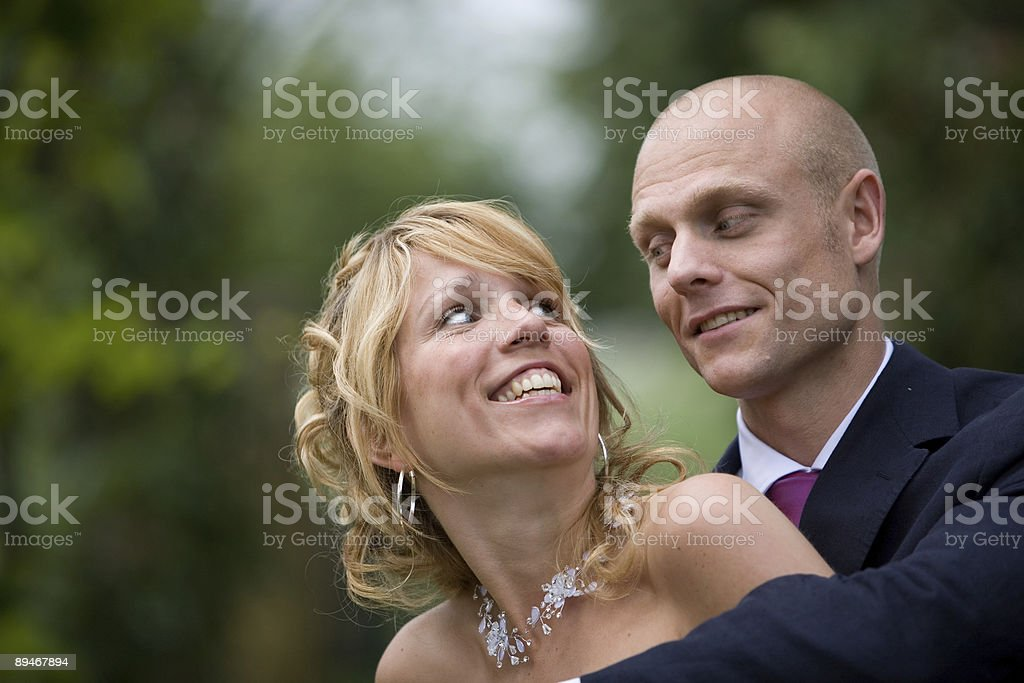 Newly weds royalty-free stock photo