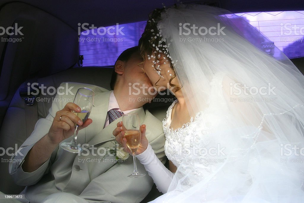 Newly-married couple royalty-free stock photo