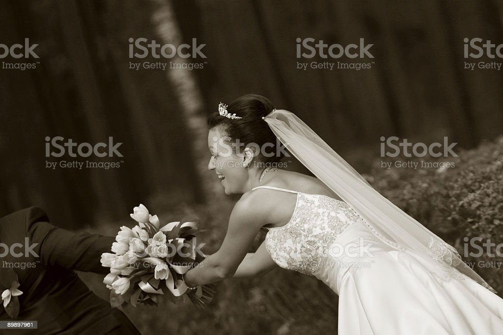 Newly-married couple royalty free stockfoto