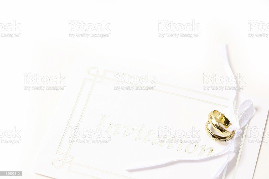 Newlywed isolated royalty-free stock photo